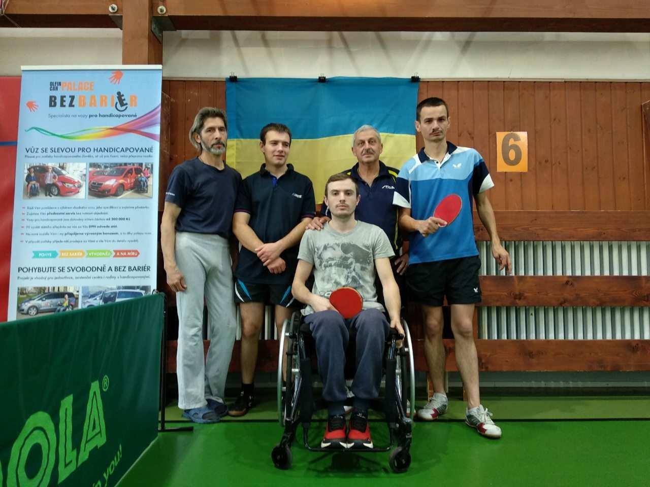 Спортсмени-паралімпійці із Закарпаття взяли участь  у міжнародному турнірі з настільного тенісу в Чехії