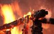 На Ужгородщині вночі вщент згоріла лазня