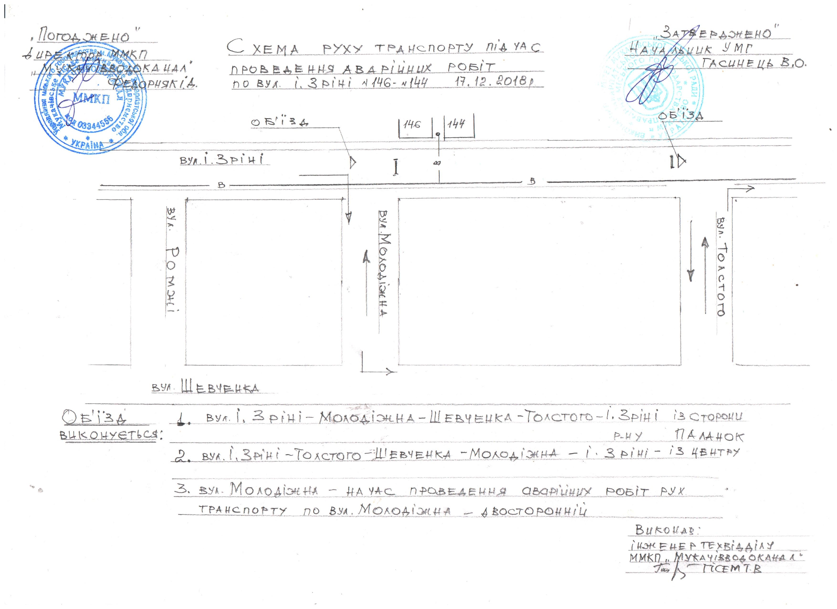 У Мукачеві 17-грудня перекриють вулицю Ілони Зріні
