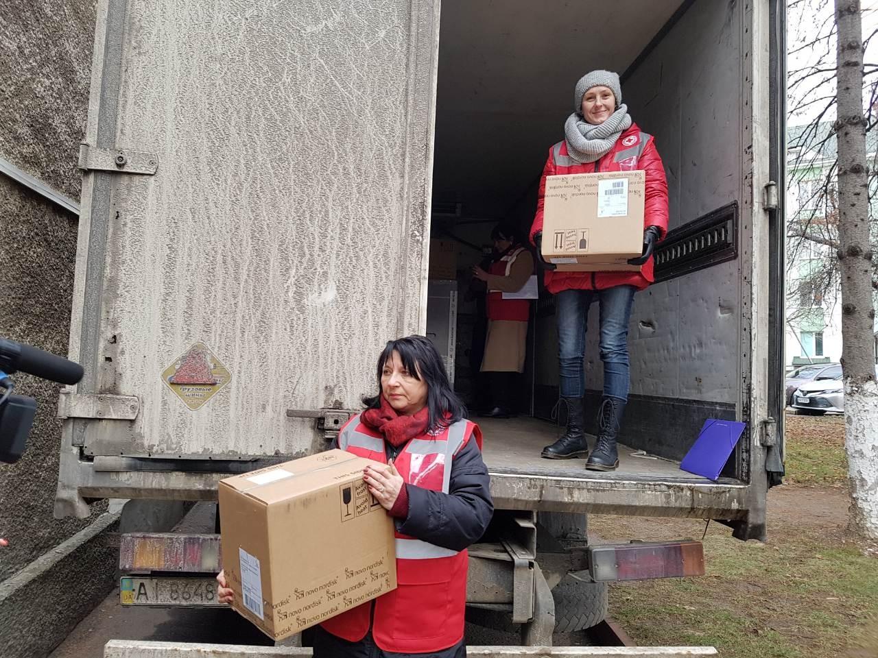 14 грудня Закарпаття отримало від Міжнародного Комітету Червоного Хреста 10,5 тисяч картриджів інсуліну