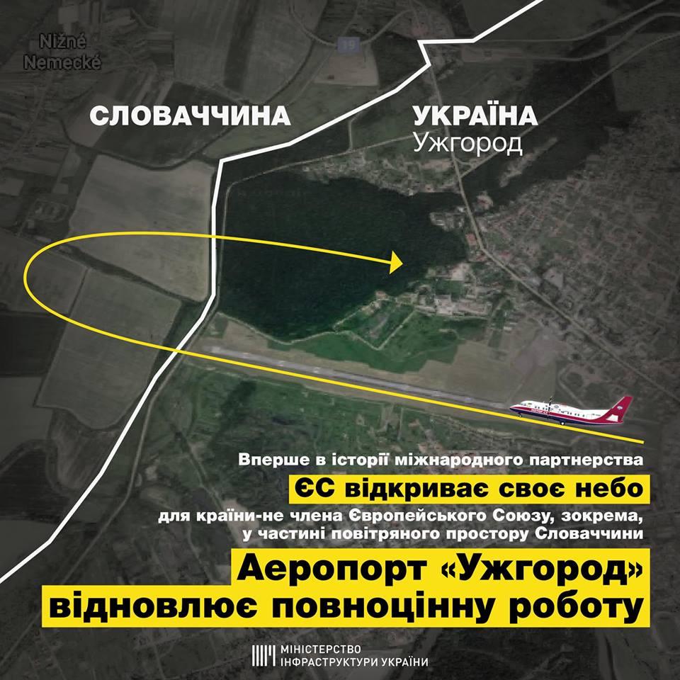 Міністр інфраструктури Володимир Омелян підтвердив, що аеропорт Ужгород пройшов сертифікацію