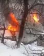 З'явилось відео з місця смертельної пожежі, у якій заживо згоріла жінка