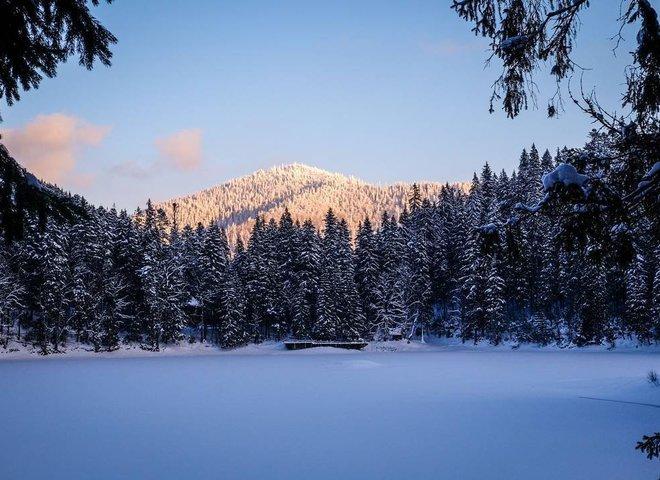 У мережі показали зимове відео озера Синевир