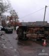 Жахлива ДТП в Ужгороді: дві автівки перевернулись