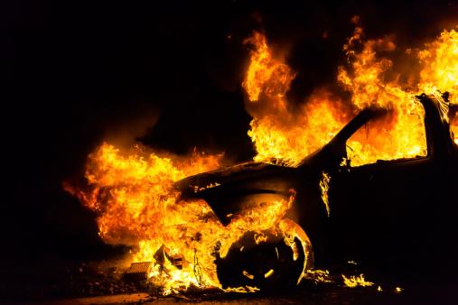 У Мукачеві на вулиці Мороза вчора ввечері горіла машина