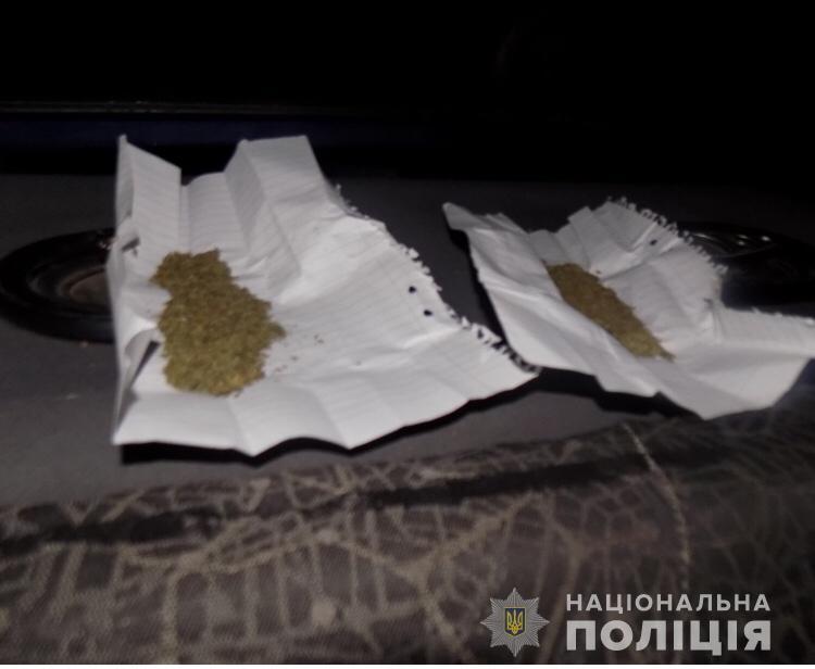 На Перечинщині в автомобілі водія-порушника поліція виявила заборонені речовини
