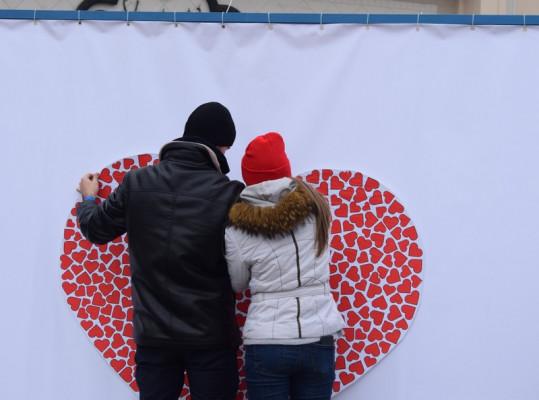 До Дня закоханих в Ужгороді влаштували соціальну акцію