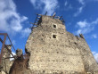Впав дах аварійної вежі Невицького замку