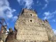 Падіння даху вежі Невицького замку: відео з місця події