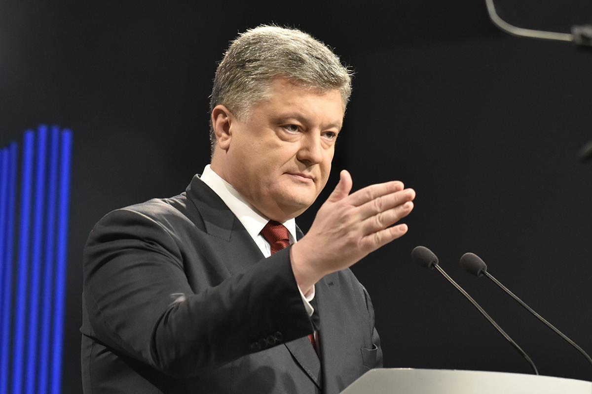 Петро Порошенко зустрівся з ужгородцями у центрі міста