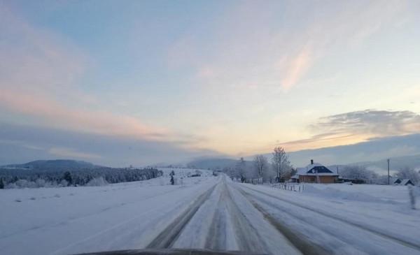 На межі Закарпатської та Львівської областей панує справжня зима