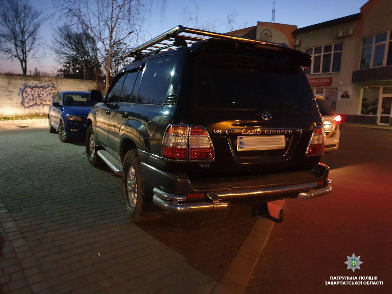 """В Ужгороді зупинили водія Тойоти, який їздив """"під кайфом"""""""