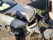 У Мукачеві жінка-водій в'їхала в паркан. У машині було двоє дітей