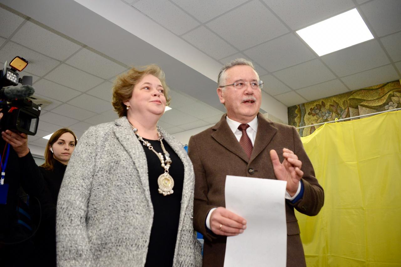 З дружиною Анатолія Гриценка під час голосування стався прикрий інцидент