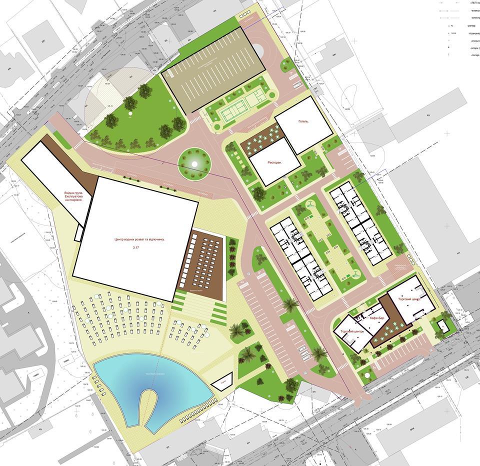 На території колишнього винзаводу в Мукачеві збудують аквапарк, басейн та новий торговий центр