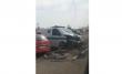 Зіткнулись щонайменше 5 автомобілів: ексклюзивне відео з місця події
