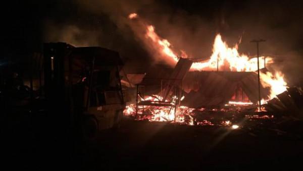 У Мукачеві вночі трапилась велика пожежа