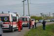Шкільний автобус зіткнувся з трактором: рятувальники та медики провели спільні навчання