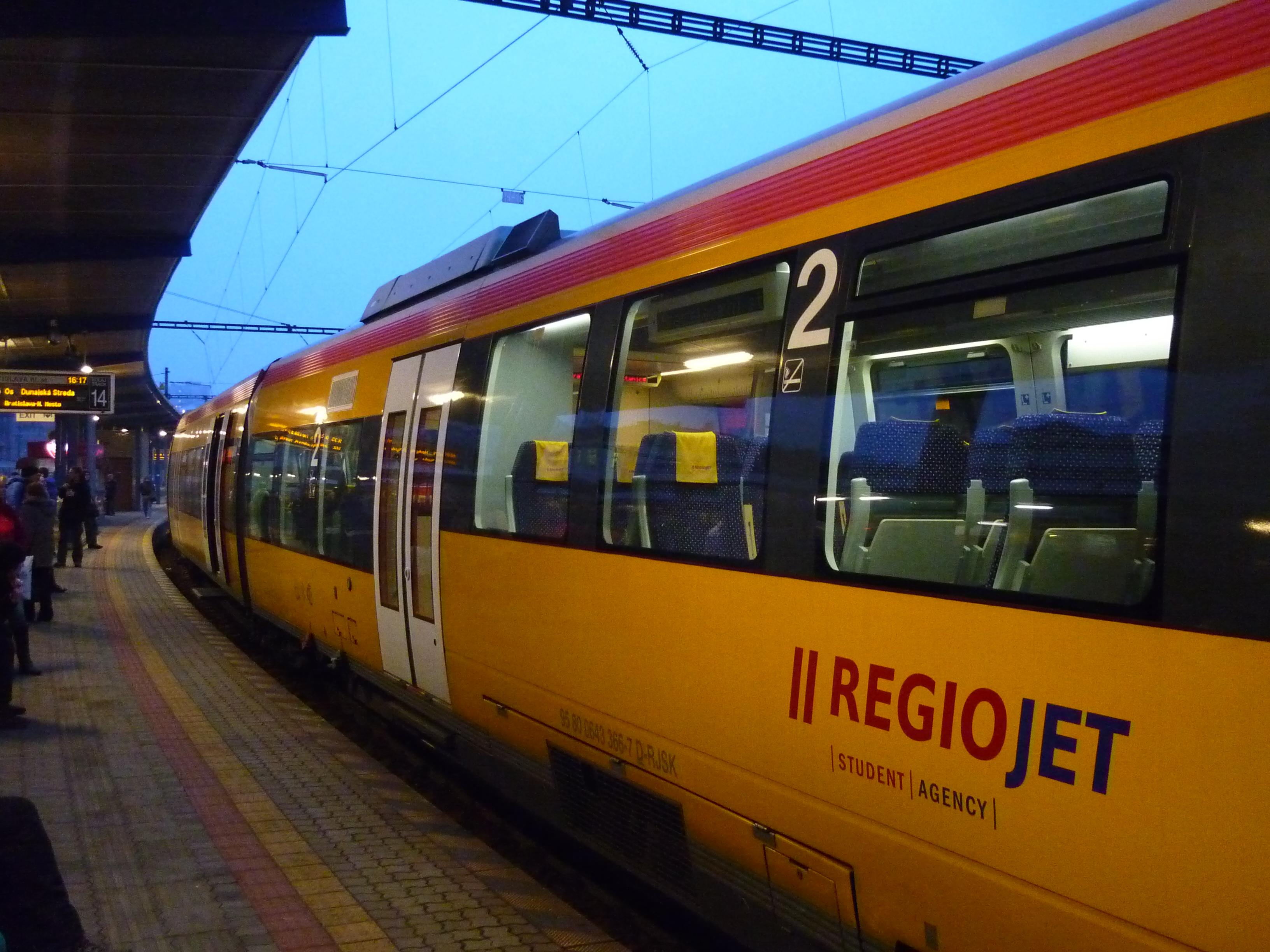 Приватна компанія RegioJet хоче запустити потяг із Чехії в Мукачево