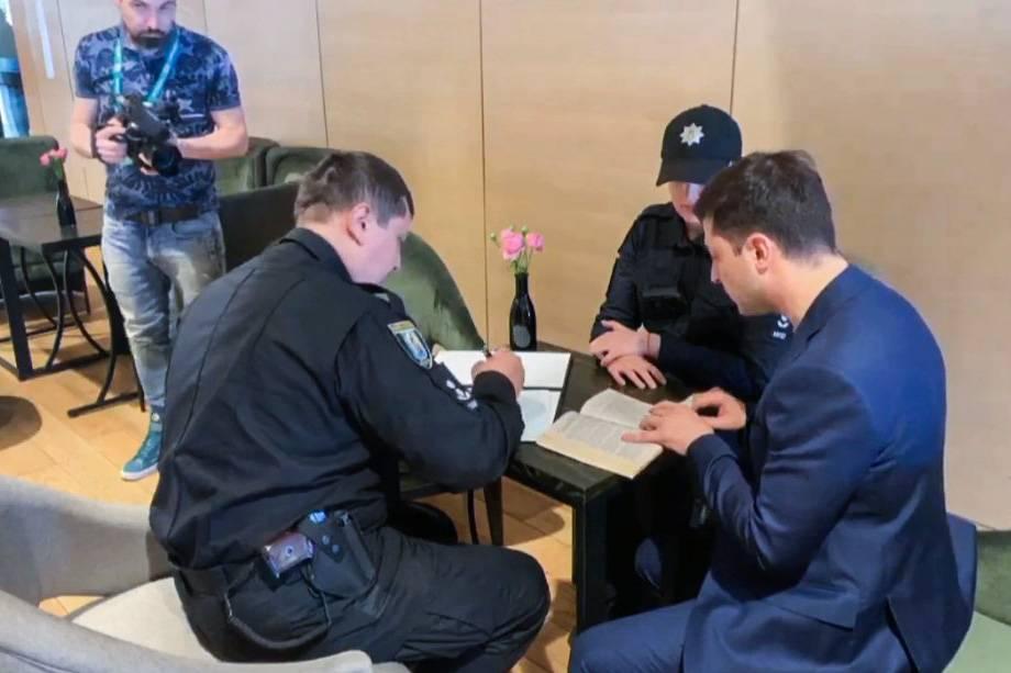Поліція оштрафувала Зеленського за його сьогоднішній вчинок