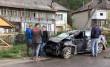 Неподалік Рахова автомобіль вдарився в електроопору і перекинувся в кювет