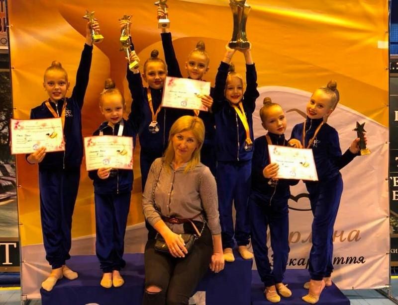 Маленькі мукачівки зайняли призові місця на турнірі з художньої гімнастики Перлина Закарпаття 2019