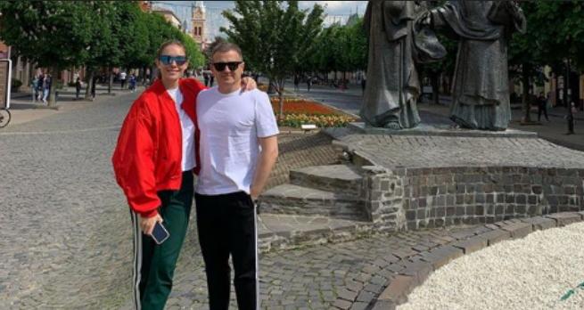 Зіркова пара Катерина Осадча та Юрій Горбунов відвідали Мукачево