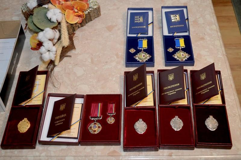 Кількох закарпатців відзначили високими державними і крайовими нагородами у Закарпатській ОДА
