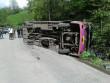 На Закарпатті перекинувся рейсовий автобус, одна людина загинула