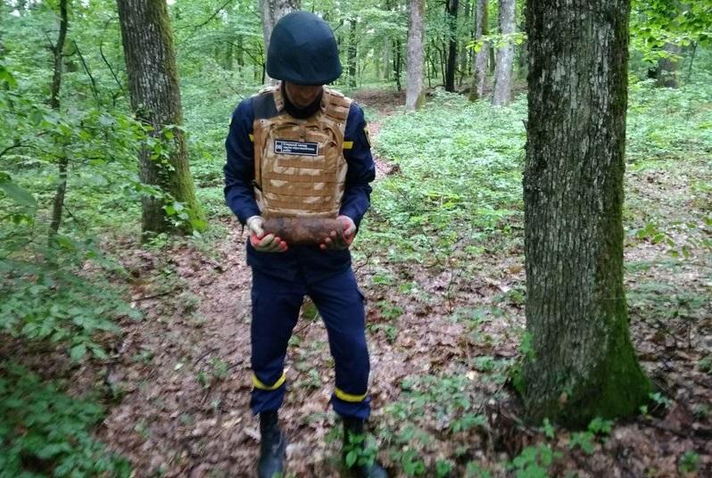Мукачівка під час збирання грибів виявила небезпечну знахідку – артснаряд