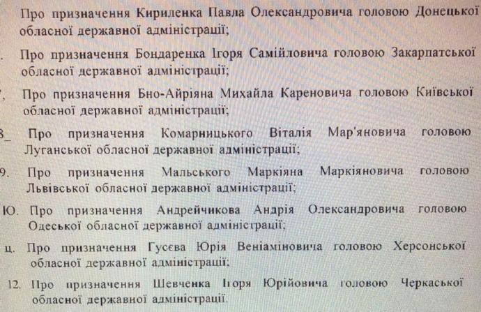 Кабмін розгляне кандидатуру Ігоря Бондаренка на пост губернатора Закарпаття