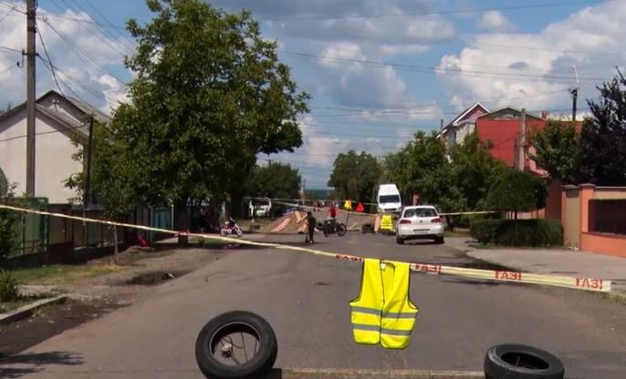 У Виноградові десять днів блокують одну із вулиць міста