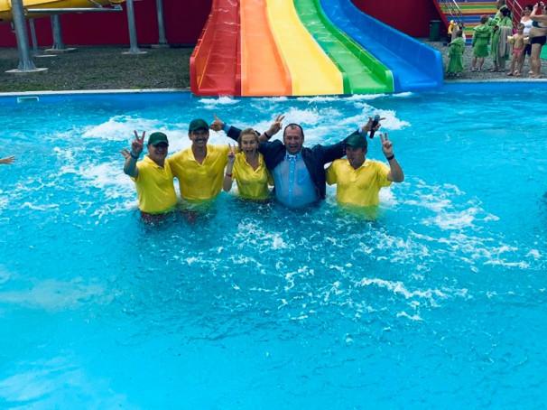"""Сьогодні відкрився перший закарпатський аквапарк """"Косино"""""""