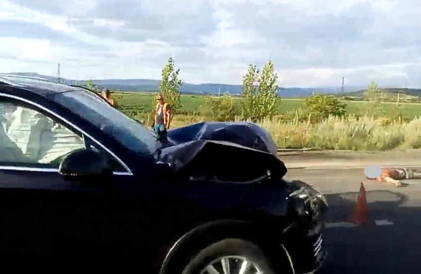 З'явилося відео з місця смертельної аварії біля Ракошина, в якій загинув дорожник