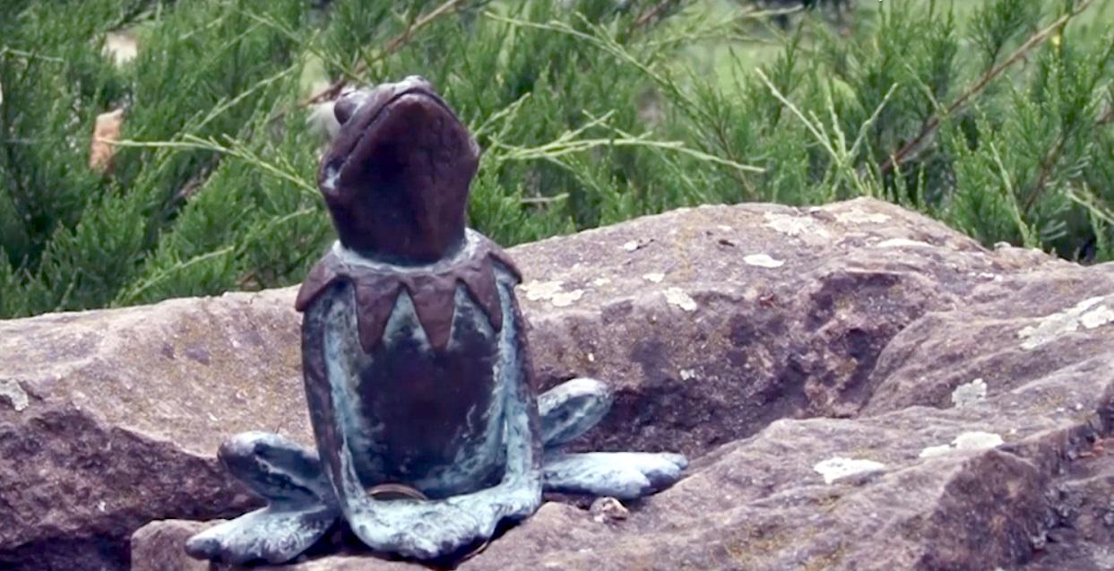 На перечинщині встановлений міні-пам'ятник жабеняті