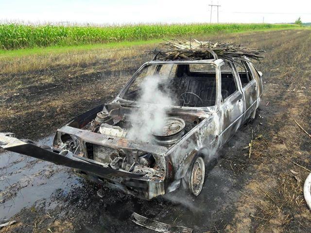 У Виноградівському районі згоріло вщент авто