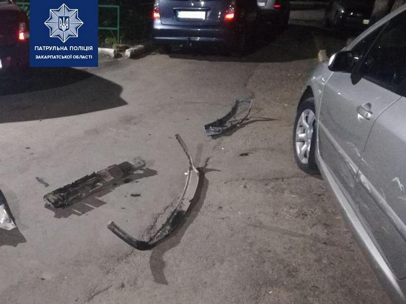 В Ужгороді горе-водій пошкодив три машини