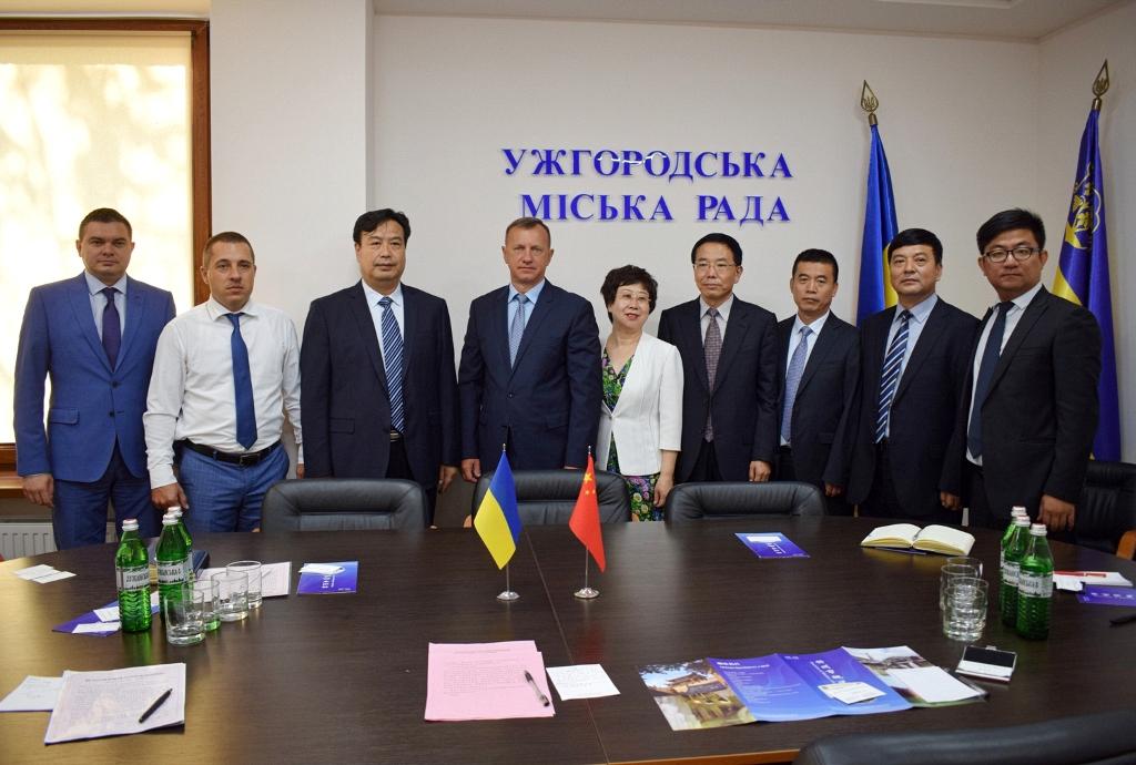 До Ужгорода завітала делегація з Китаю