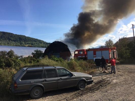 У Сваляві спалахнула пожежа