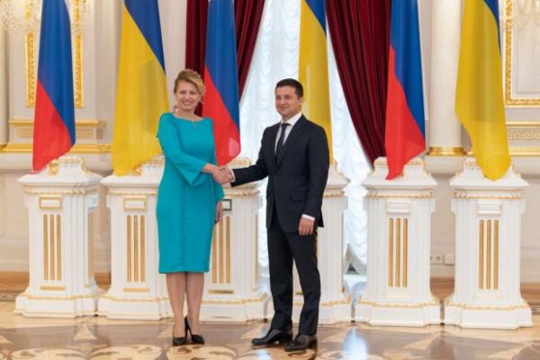 Зеленський сьогодні зустрівся із президенткою Словаччини