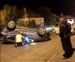 Карколомна ДТП у Виноградові: один із автомобілів перекинувся на дах