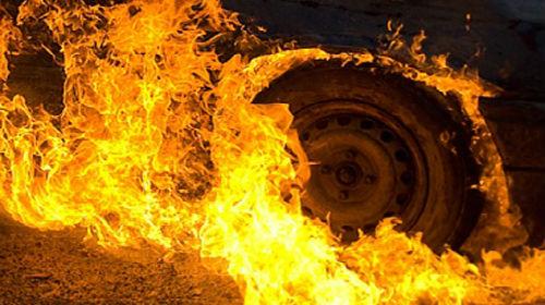Вночі в Чинадієві горіла машина