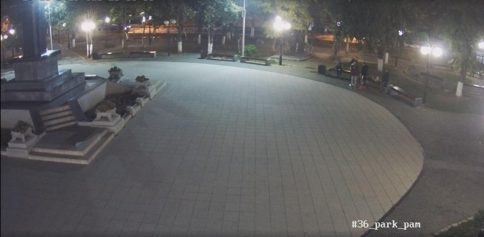 Камери відеоспостереження зафіксували акт вандалізму