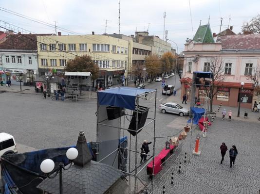 День святого Мартина: у центрі Мукачева триває підготовка