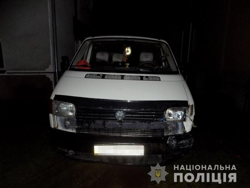 Через п'яного водія мікроавтобуса постраждав чоловік