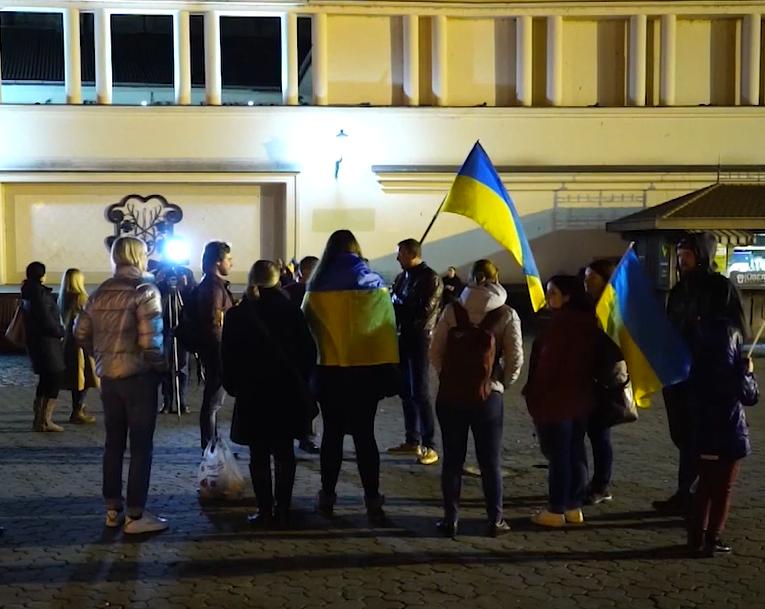 Ужгородці згадували атмосферу Євромайдану