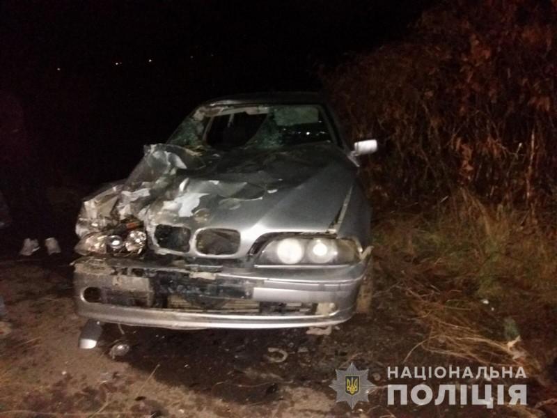 На Мукачівщині авто врізалося у віз, в якому був чоловік і двоє дітей