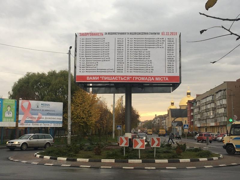 У Мукачеві боржники сплатили водоканалу понад 270 тисяч