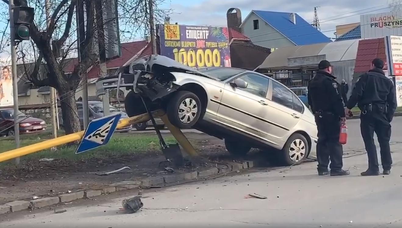 В Ужгороді трапилась аварія