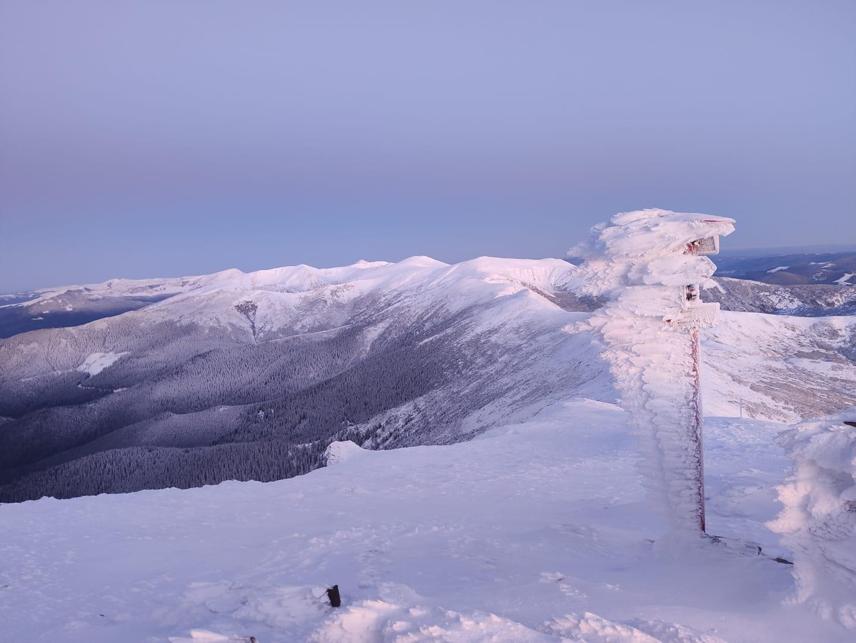 У горах вдарили морози